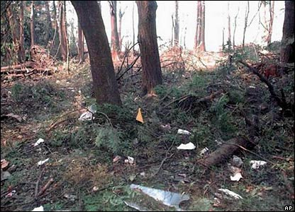 Debris found at crash site