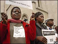 Protest outside the High Court