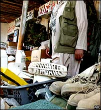 Market outside Bagram base, near Kabul