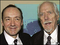 Kevin Spacey (left) and Robert Altman