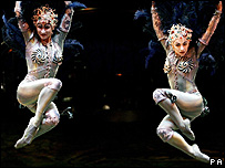 Cirque du Soleil performers at the Royal Albert Hall in 2005