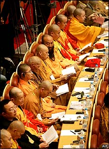 Monks at conference