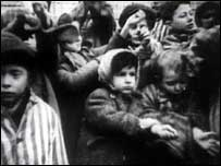Jewish children in a Nazi camp