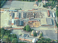 An aerial view of Welshpool livestock market (Picture: County Times newspaper)