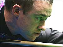 Stephen Hendry competes at the recent China Open