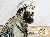 Zacarias Moussaoui takes the stand in his trial