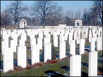 Ypres Cemetery, resting place of British soldiers who fought in Belgium