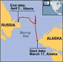 Map of Bering Sea