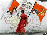 Campaign graffiti in Calcutta