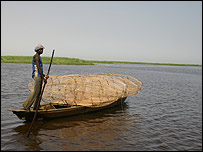 Fisherman on Lake Chad