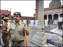 Blast site at Jama Masjid