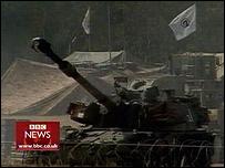 Israeli tank near Gaza