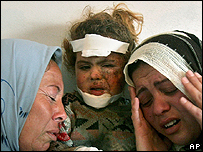 Relatives of an eight-year-old Gazan girl killed by Israeli shelling