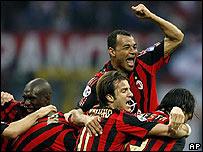 Jugadores del AC Milan