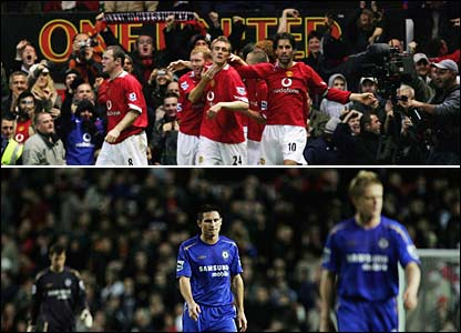 Manchester United beat Chelsea at Old Trafford