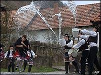 Holloko, Hungría, semana santa.