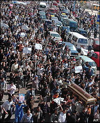 Funeral procession for Nushi Atta Girgis in Alexandria