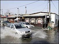 Danube bursts its banks in Serbia