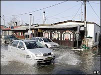 Belgrade - flooded street