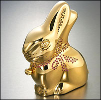 A bespoke Lindt Gold Bunny
