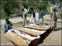 Coffins of police killed in Friday's fighting