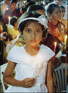 Christian girl in India