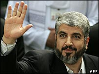 Hamas official Khaled Meshaal in Tehran