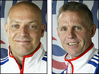 British performance director Dave Brailsford (left) and sprint coach Shane Sutton