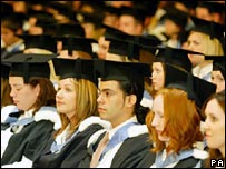 Students at a degree ceremony