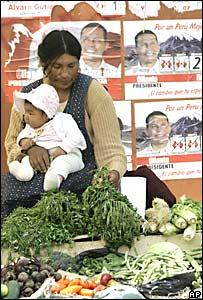 Indigena y propaganda electoral en Perú