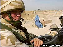 British soldier in Helmand, Afghanistan
