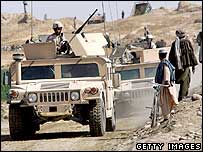 US military convoy in Helmand, Afghanistan