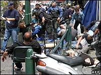 Injured victims of the Tel Aviv blast