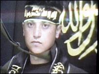 Video publicado por el grupo Yihad Islámica con la imagen del presunto atacante suicida.