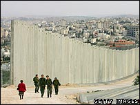 Section of Israeli-built wall around Abu Dis, Jerusalem