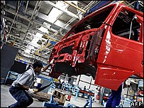 Volvo factory in Hoskote, near Bangalore