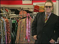 Sir Elton John at the wardrobe sale