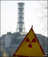 Aviso de radioactividad cerca a la central de Chernobyl