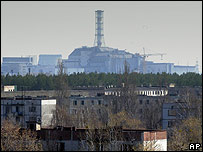 Vista panor�mica de reactor de Chernobyl