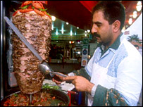 A kebab vendor on the streets of Istanbul