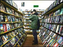 Man in DVD store