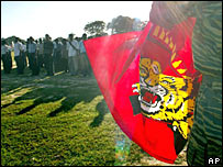 A Tamil Tigers meeting in Kilinochchi, Sri Lanka