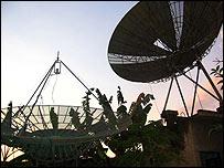Antena transmisora del canal de televisión