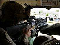 US soldier in Ramadi