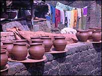 Pots made in Dharavi, Asia's largest slum
