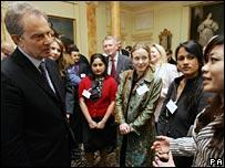 Prime Minister Tony Blair meeting overseas students