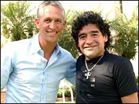 Gary Lineker and Diego Maradona