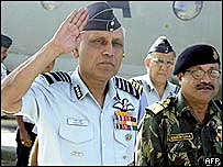 Indian Air Chief Marshall SP Tyagi