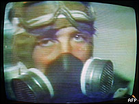 """Imagen en televisi�n de """"liquidador"""" de Chernobyl"""