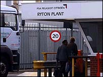 PSA Peugeot Citroen's Ryton plant